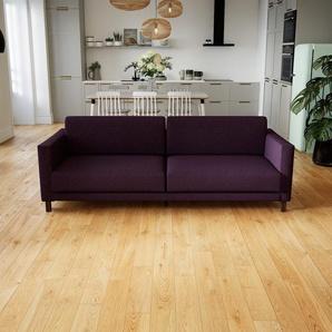 Sofa Auberginenlila - Moderne Designer-Couch: Hochwertige Qualität, einzigartiges Design - 220 x 75 x 98 cm, Komplett anpassbar