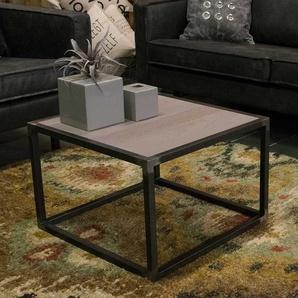 Sofa Beistelltisch im Loft Design Eiche Massivholz und Stahl in Anthrazit