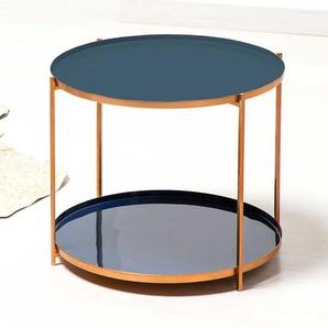 Sofa Beistelltisch in Kupferfarben und Grau handgearbeitet