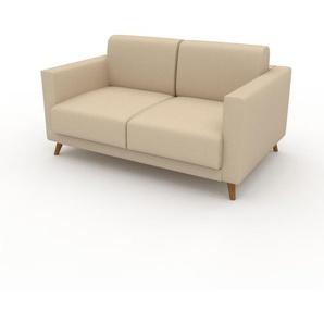 Sofa Cremebeige - Moderne Designer-Couch: Hochwertige Qualität, einzigartiges Design - 145 x 75 x 98 cm, Komplett anpassbar
