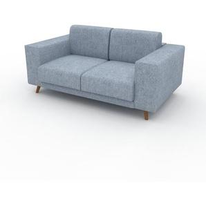 Sofa Eisblau - Moderne Designer-Couch: Hochwertige Qualität, einzigartiges Design - 168 x 75 x 98 cm, Komplett anpassbar