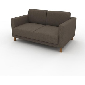 Sofa Graubraun - Moderne Designer-Couch: Hochwertige Qualität, einzigartiges Design - 140 x 75 x 98 cm, Komplett anpassbar