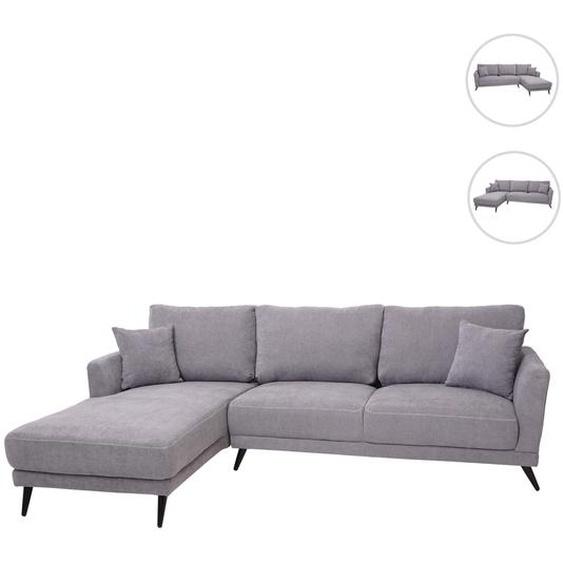 Sofa HWC-G45, Couch Ecksofa L-Form 3-Sitzer, Liegefl�che Nosagfederung Taschenfederkern ~ links, vintage grau