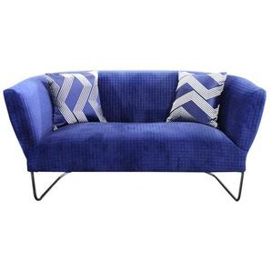 Sofa in Blau Stoff modern