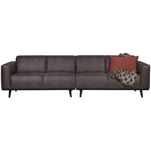 Sofa in Dunkelgrau Recyclingleder