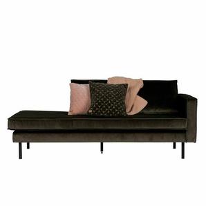 Sofa in Dunkelgr�n Stoff
