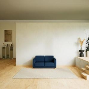 Sofa Jeansblau - Moderne Designer-Couch: Hochwertige Qualität, einzigartiges Design - 144 x 75 x 98 cm, Komplett anpassbar