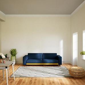 Sofa Jeansblau - Moderne Designer-Couch: Hochwertige Qualität, einzigartiges Design - 248 x 75 x 98 cm, Komplett anpassbar