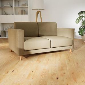 Sofa Karamellbraun - Moderne Designer-Couch: Hochwertige Qualität, einzigartiges Design - 145 x 75 x 98 cm, Komplett anpassbar