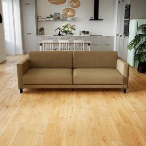 Sofa Karamellbraun - Moderne Designer-Couch: Hochwertige Qualität, einzigartiges Design - 224 x 75 x 98 cm, Komplett anpassbar