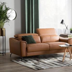 Sofa Leder Goldbraun NARWIK