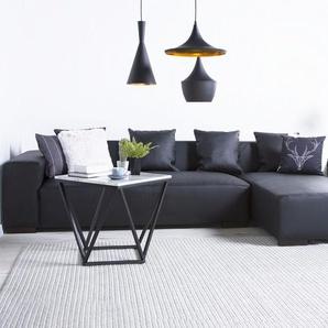 Sofa Leder schwarz linksseitig LUNGO