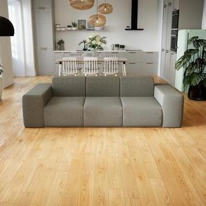 Sofa Lichtgrau - Moderne Designer-Couch: Hochwertige Qualität, einzigartiges Design - 246 x 72 x 107 cm, Komplett anpassbar