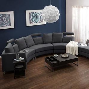 Sofa Polsterbezug grau rund ROTUNDE