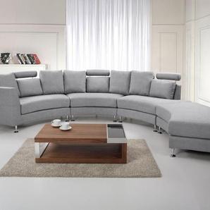Sofa Polsterbezug hellgrau rund ROTUNDE