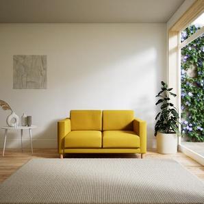 Sofa Rapsgelb - Moderne Designer-Couch: Hochwertige Qualität, einzigartiges Design - 144 x 75 x 98 cm, Komplett anpassbar