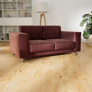 Sofa Samt Altrosa - Moderne Designer-Couch: Hochwertige Qualität, einzigartiges Design - 168 x 75 x 98 cm, Komplett anpassbar