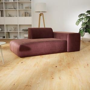 Sofa Samt Altrosa - Moderne Designer-Couch: Hochwertige Qualität, einzigartiges Design - 182 x 72 x 107 cm, Komplett anpassbar