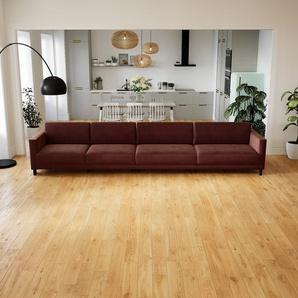 Sofa Samt Altrosa - Moderne Designer-Couch: Hochwertige Qualität, einzigartiges Design - 384 x 75 x 98 cm, Komplett anpassbar