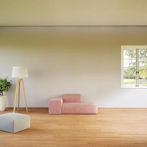 Sofa Samt Bonbonrosa - Moderne Designer-Couch: Hochwertige Qualität, einzigartiges Design - 182 x 72 x 107 cm, Komplett anpassbar