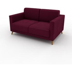 Sofa Brombeerrot - Moderne Designer-Couch: Hochwertige Qualität, einzigartiges Design - 145 x 75 x 98 cm, Komplett anpassbar