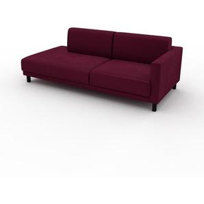 Sofa Brombeerrot - Moderne Designer-Couch: Hochwertige Qualität, einzigartiges Design - 212 x 75 x 98 cm, Komplett anpassbar