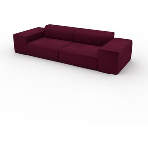 Sofa Brombeerrot - Moderne Designer-Couch: Hochwertige Qualität, einzigartiges Design - 294 x 72 x 107 cm, Komplett anpassbar