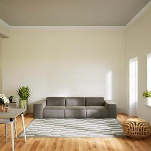 Sofa Cremebeige - Moderne Designer-Couch: Hochwertige Qualität, einzigartiges Design - 291 x 72 x 107 cm, Komplett anpassbar