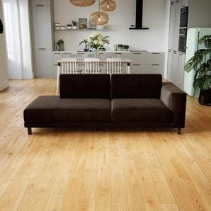 Sofa Kaffeebraun - Moderne Designer-Couch: Hochwertige Qualität, einzigartiges Design - 224 x 75 x 98 cm, Komplett anpassbar
