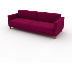 Sofa Magentapink - Moderne Designer-Couch: Hochwertige Qualität, einzigartiges Design - 224 x 75 x 98 cm, Komplett anpassbar