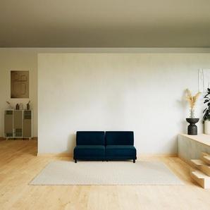 Sofa Nachtblau - Moderne Designer-Couch: Hochwertige Qualität, einzigartiges Design - 160 x 75 x 98 cm, Komplett anpassbar