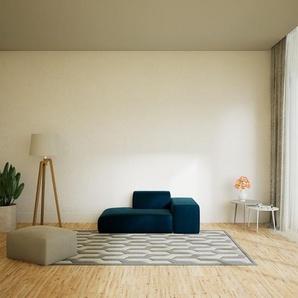Sofa Samt Nachtblau - Moderne Designer-Couch: Hochwertige Qualität, einzigartiges Design - 182 x 72 x 107 cm, Komplett anpassbar