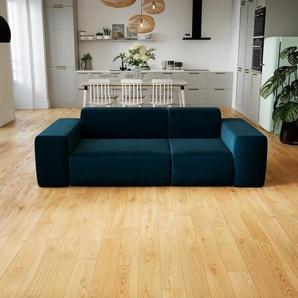 Sofa Nachtblau - Moderne Designer-Couch: Hochwertige Qualität, einzigartiges Design - 226 x 72 x 107 cm, Komplett anpassbar