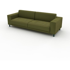 Sofa Olivgrün - Moderne Designer-Couch: Hochwertige Qualität, einzigartiges Design - 248 x 75 x 98 cm, Komplett anpassbar