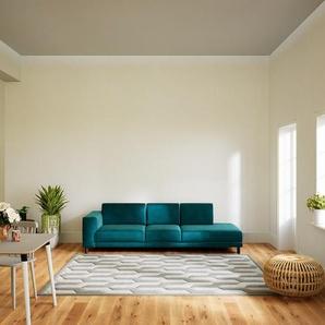 Sofa Ozeangrün - Moderne Designer-Couch: Hochwertige Qualität, einzigartiges Design - 264 x 75 x 98 cm, Komplett anpassbar