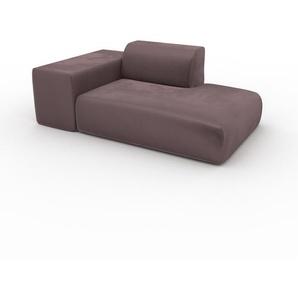 Sofa Samt Puderrosa - Moderne Designer-Couch: Hochwertige Qualität, einzigartiges Design - 182 x 72 x 107 cm, Komplett anpassbar