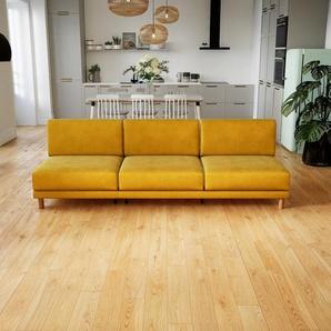 Sofa Rapsgelb - Moderne Designer-Couch: Hochwertige Qualität, einzigartiges Design - 240 x 75 x 98 cm, Komplett anpassbar