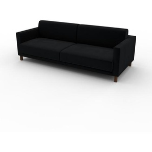 Sofa Schwarz - Moderne Designer-Couch: Hochwertige Qualität, einzigartiges Design - 220 x 75 x 98 cm, Komplett anpassbar