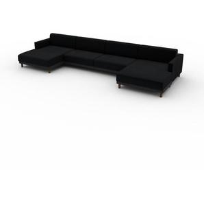 Sofa Schwarz - Moderne Designer-Couch: Hochwertige Qualität, einzigartiges Design - 424 x 75 x 162 cm, Komplett anpassbar