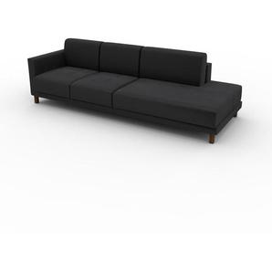 Sofa Steingrau - Moderne Designer-Couch: Hochwertige Qualität, einzigartiges Design - 252 x 75 x 98 cm, Komplett anpassbar