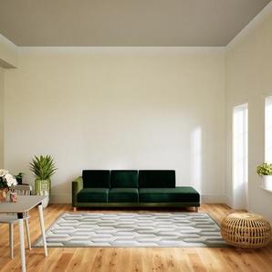 Sofa Tannengrün - Moderne Designer-Couch: Hochwertige Qualität, einzigartiges Design - 252 x 75 x 98 cm, Komplett anpassbar
