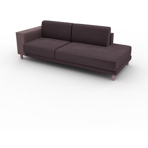 Sofa Veilchenlila - Moderne Designer-Couch: Hochwertige Qualität, einzigartiges Design - 222 x 75 x 98 cm, Komplett anpassbar