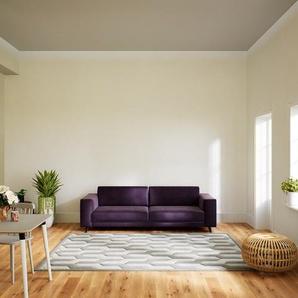 Sofa Veilchenlila - Moderne Designer-Couch: Hochwertige Qualität, einzigartiges Design - 248 x 75 x 98 cm, Komplett anpassbar
