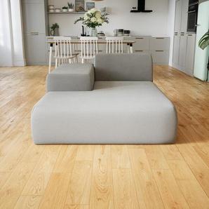 Sofa Sandgrau - Moderne Designer-Couch: Hochwertige Qualität, einzigartiges Design - 125 x 72 x 168 cm, Komplett anpassbar