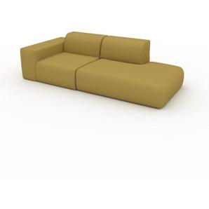 Sofa Senfgelb - Moderne Designer-Couch: Hochwertige Qualität, einzigartiges Design - 243 x 72 x 107 cm, Komplett anpassbar