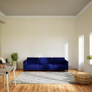 Sofa Tintenblau - Moderne Designer-Couch: Hochwertige Qualität, einzigartiges Design - 264 x 75 x 98 cm, Komplett anpassbar