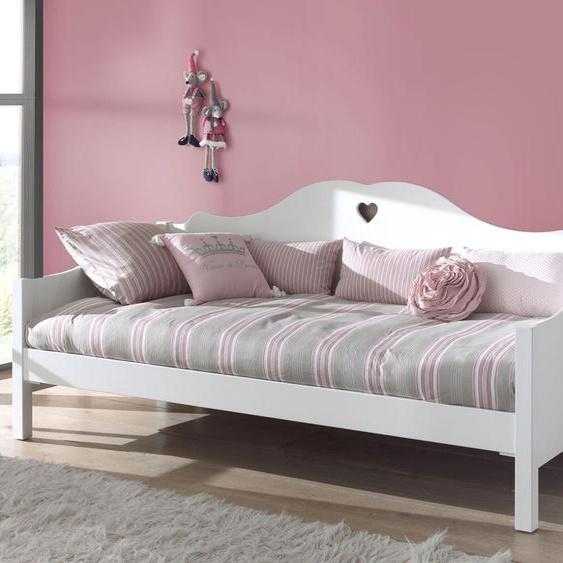 Sofabett Asami, weiß, 90x200 cm, mit Nachttisch