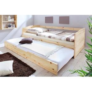 Sofabett mit Auszug Melinda 90x200 Kiefer massiv - natur