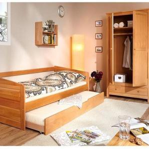 Sofabett mit Auszug Micki 90x200 Buche massiv - natur