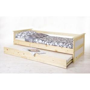 Sofabett mit Auszug Theodor 100x200 Kiefer massiv - natur